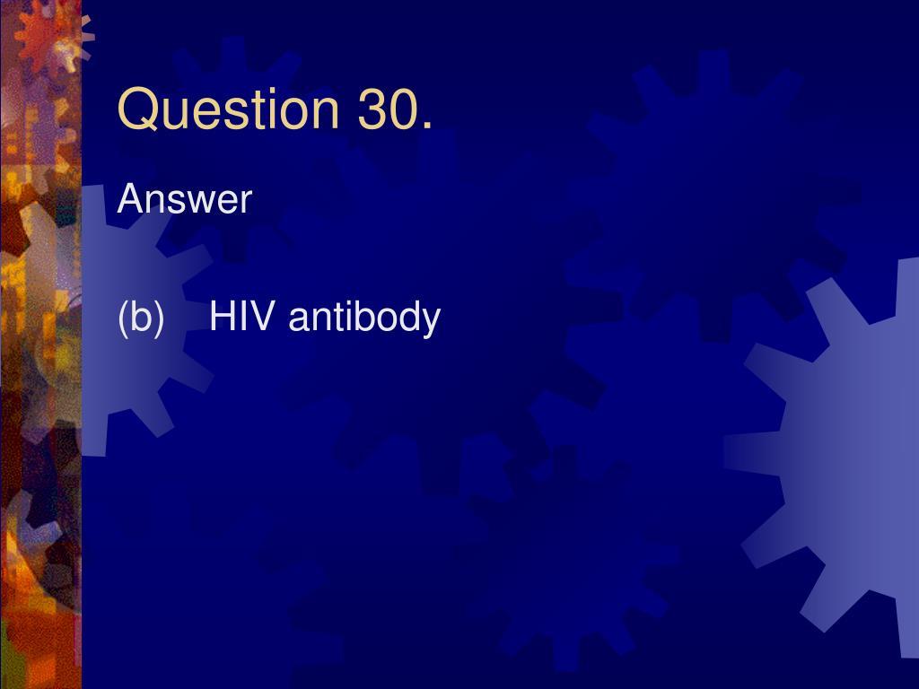 Question 30.