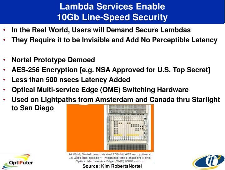 Lambda Services Enable