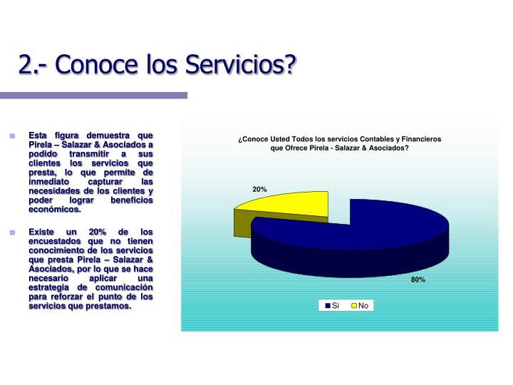 2.- Conoce los Servicios?
