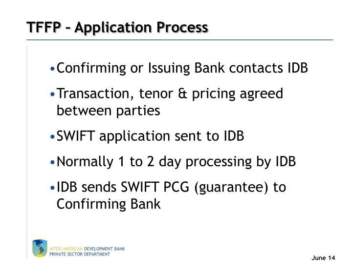 TFFP – Application Process