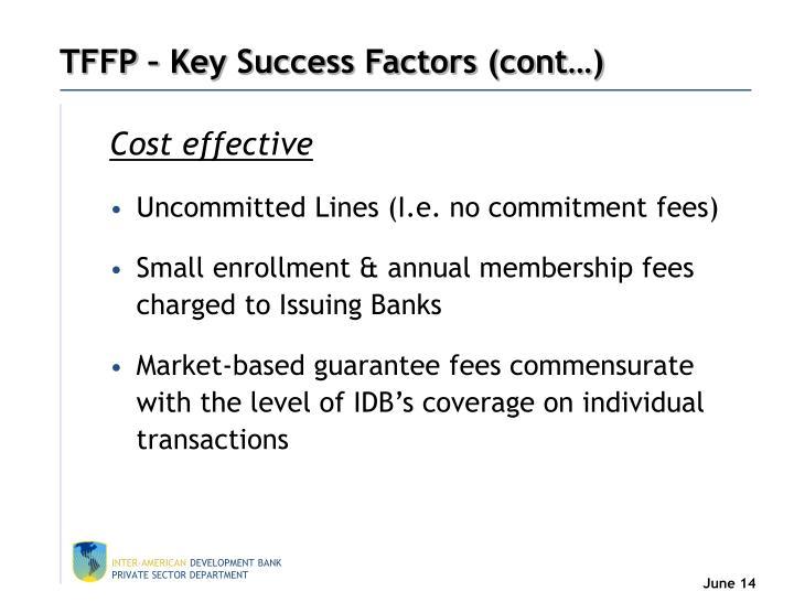 TFFP – Key Success Factors (cont…)
