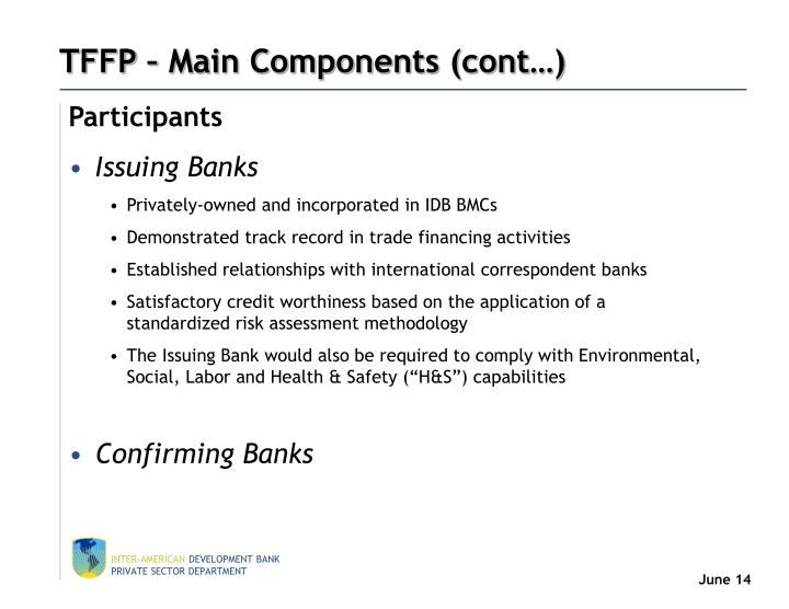 TFFP – Main Components (cont…)