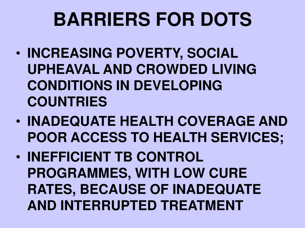 BARRIERS FOR DOTS