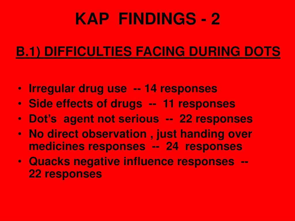 KAP  FINDINGS - 2