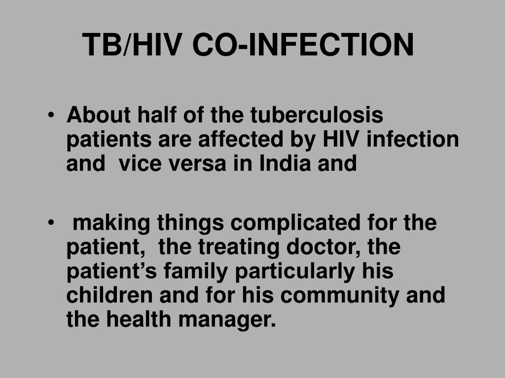 TB/HIV CO-INFECTION