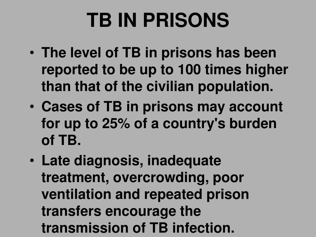 TB IN PRISONS