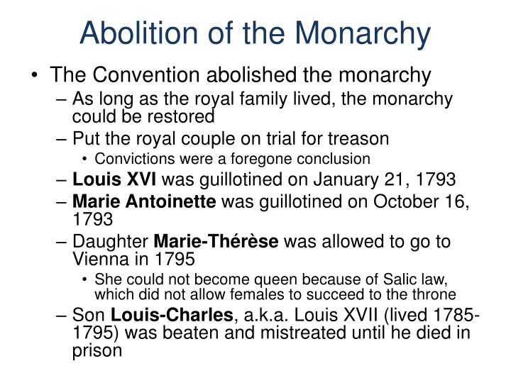 Abolition of the Monarchy
