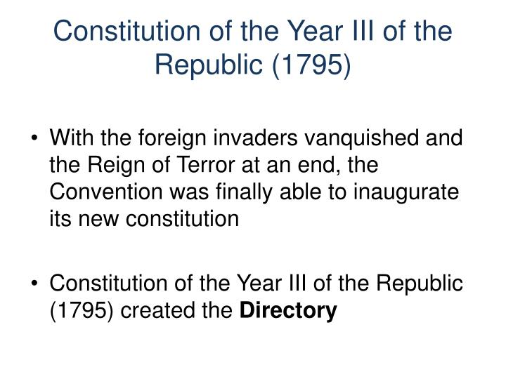 Constitution of the Year III of the Republic (1795)