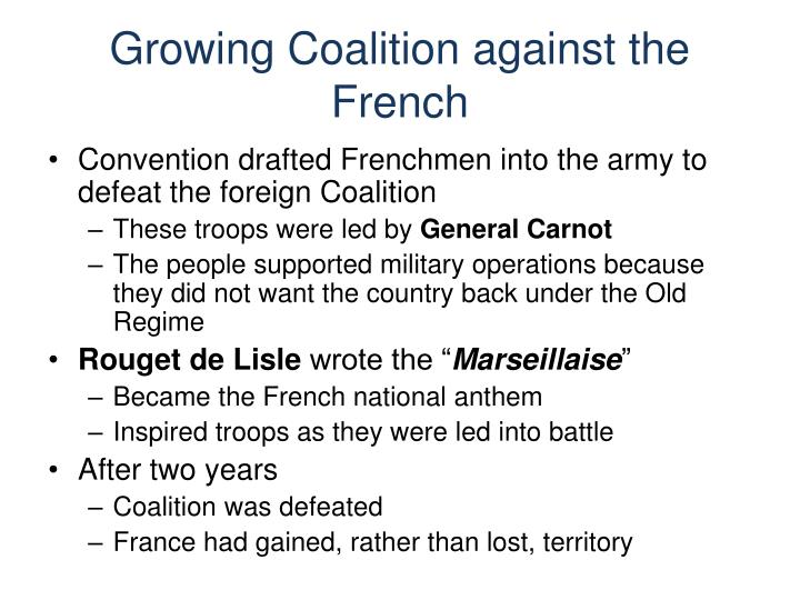 Growing Coalition against the French