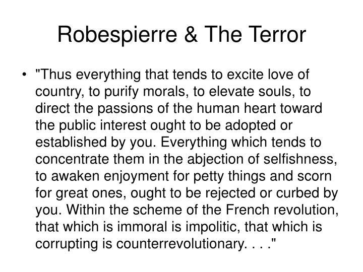 Robespierre & The Terror