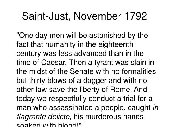Saint-Just, November 1792