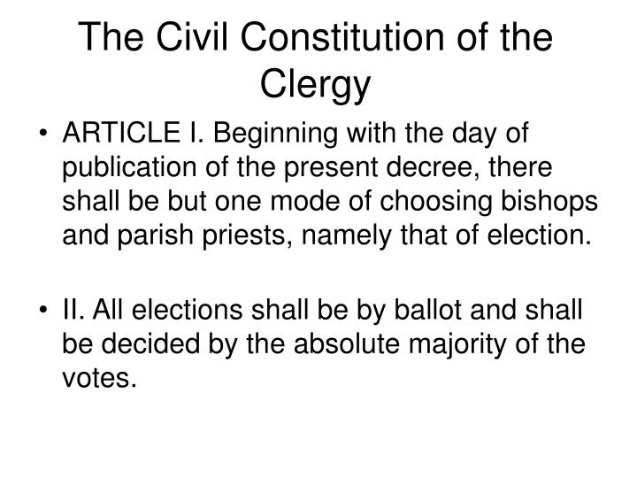 The Civil Constitution of the Clergy