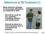 adherence to tb treatment 1