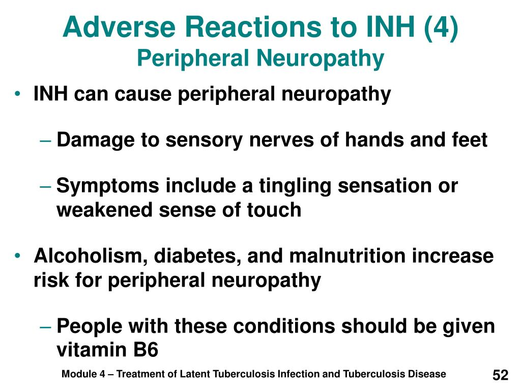 Adverse Reactions to INH (4)