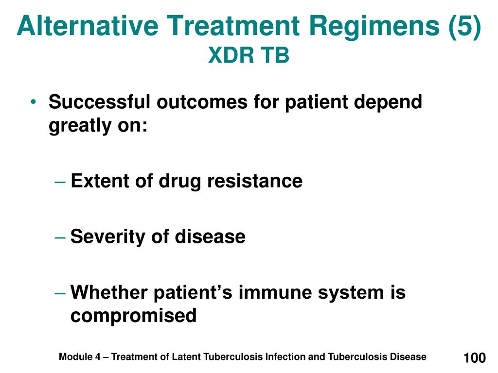 Alternative Treatment Regimens (5)