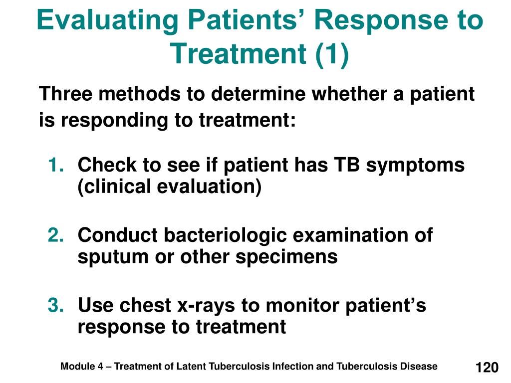 Evaluating Patients' Response to Treatment (1)