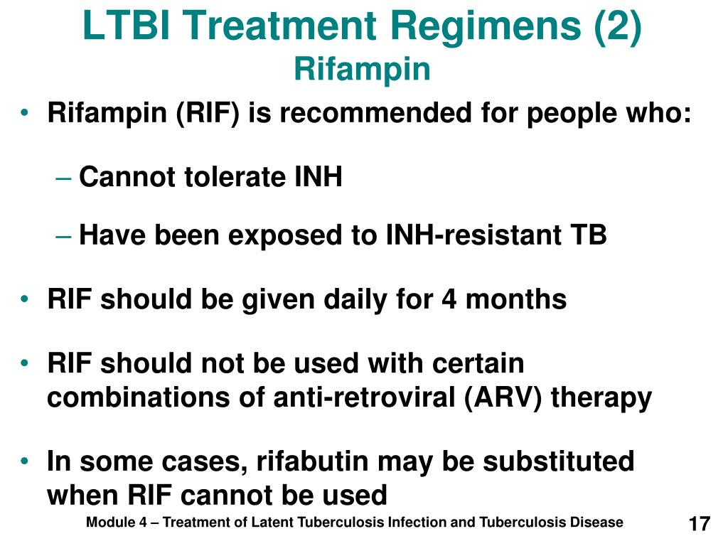 LTBI Treatment Regimens (2)