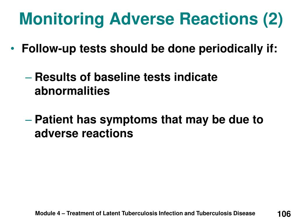 Monitoring Adverse Reactions (2)