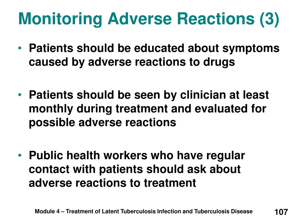 Monitoring Adverse Reactions (3)