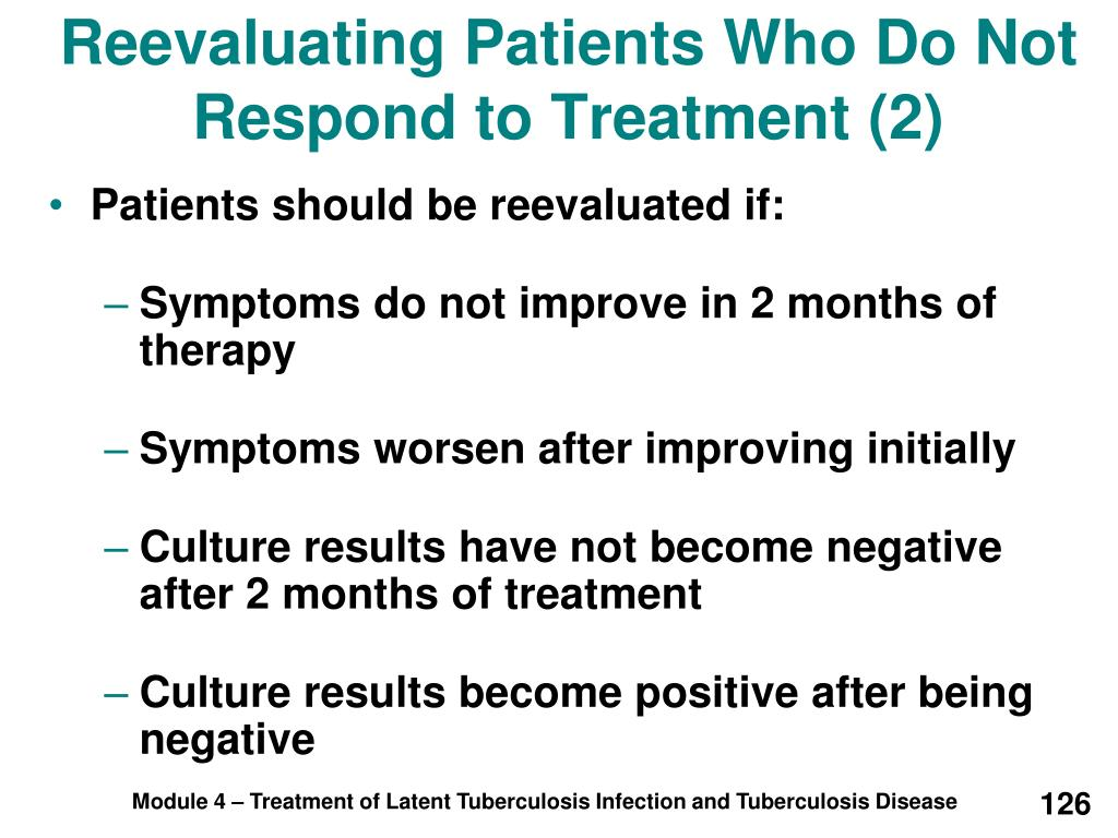 Reevaluating Patients Who Do Not Respond to Treatment (2)