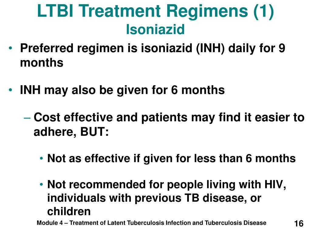 LTBI Treatment Regimens (1)