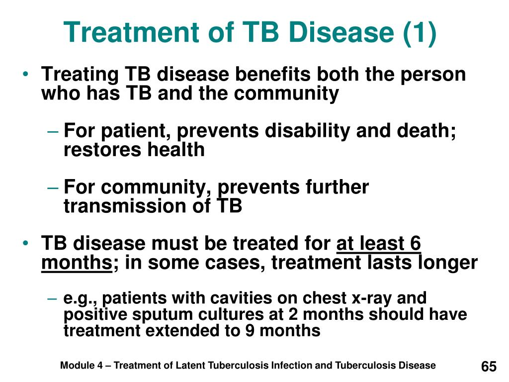 Treatment of TB Disease (1)
