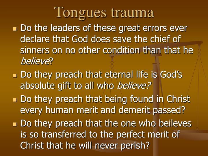 Tongues trauma