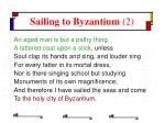 sailing to byzantium 2