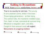 sailing to byzantium w b yeats green nature time brown art