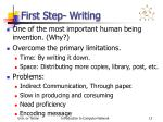 first step writing