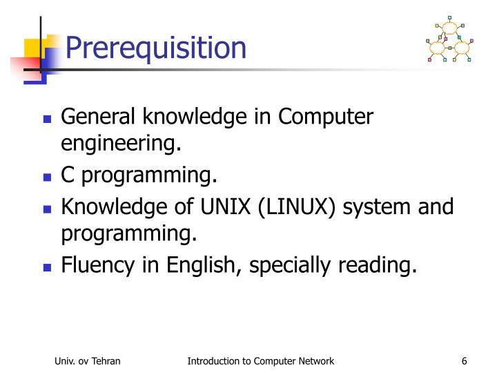 Prerequisition