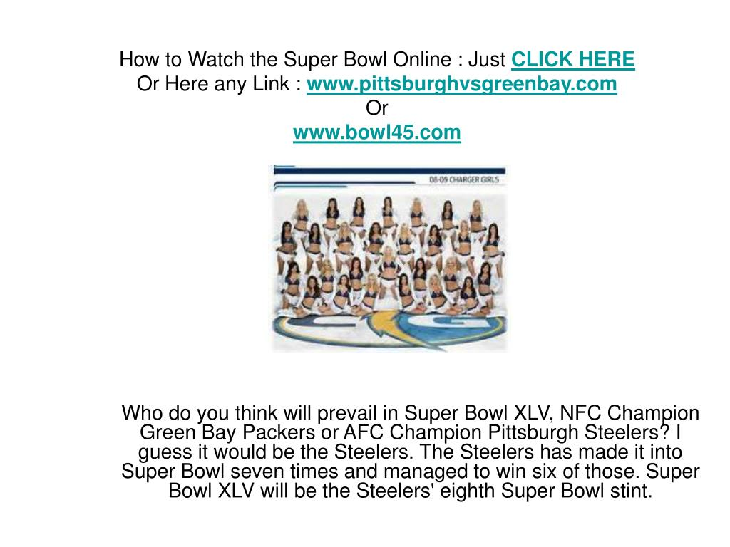 How to Watch the Super Bowl Online : Just