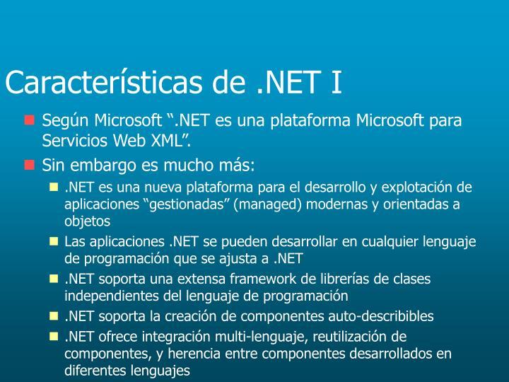 Características de .NET I