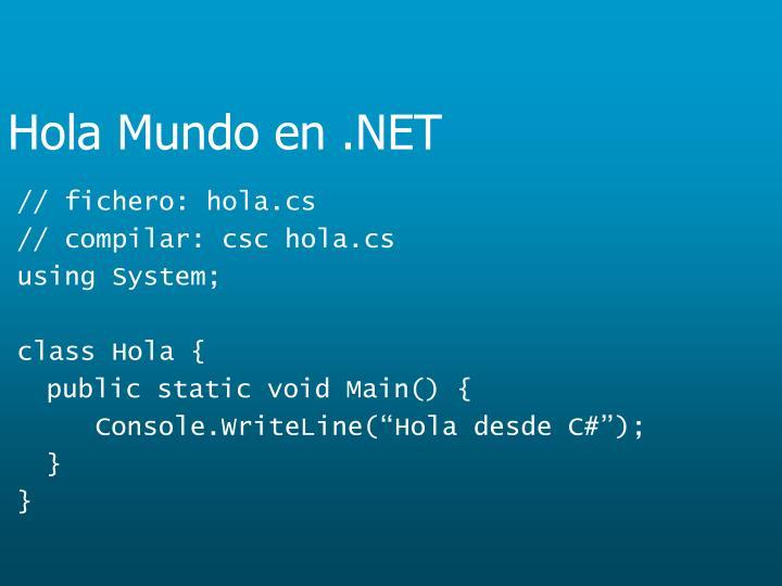 Hola Mundo en .NET