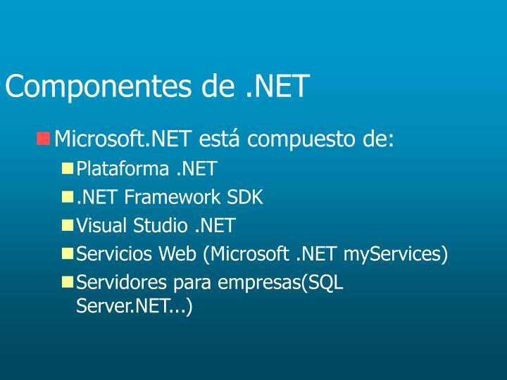 Componentes de .NET