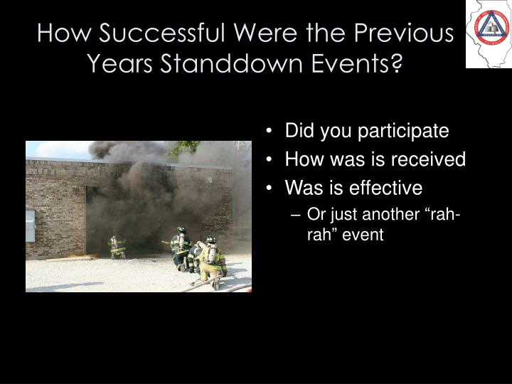How Successful Were the Previous Years Standdown Events?