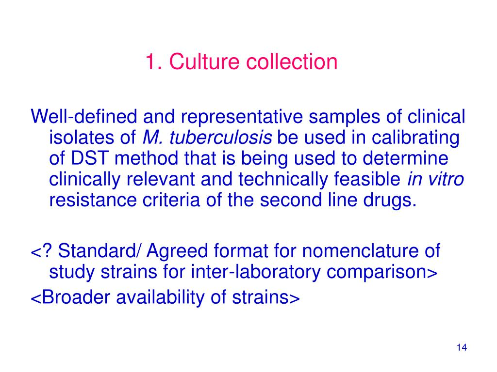 1. Culture collection