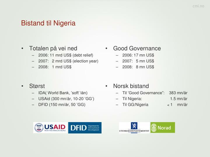 Bistand til Nigeria
