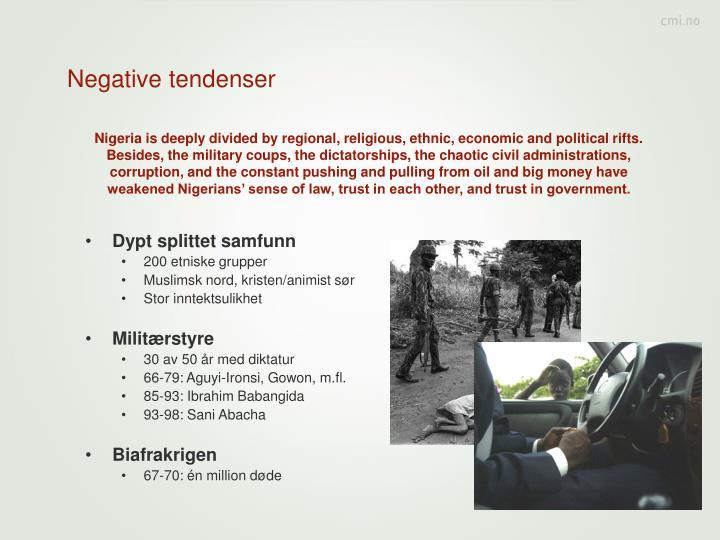 Negative tendenser