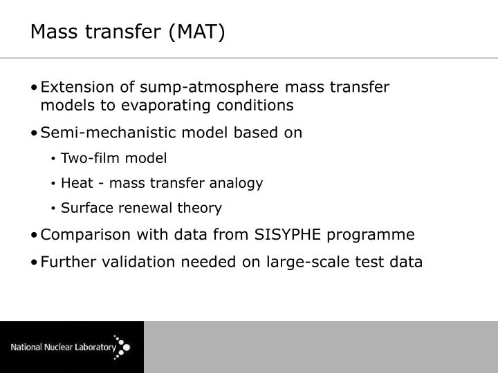 Mass transfer (MAT)