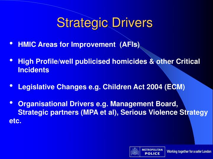 Strategic Drivers