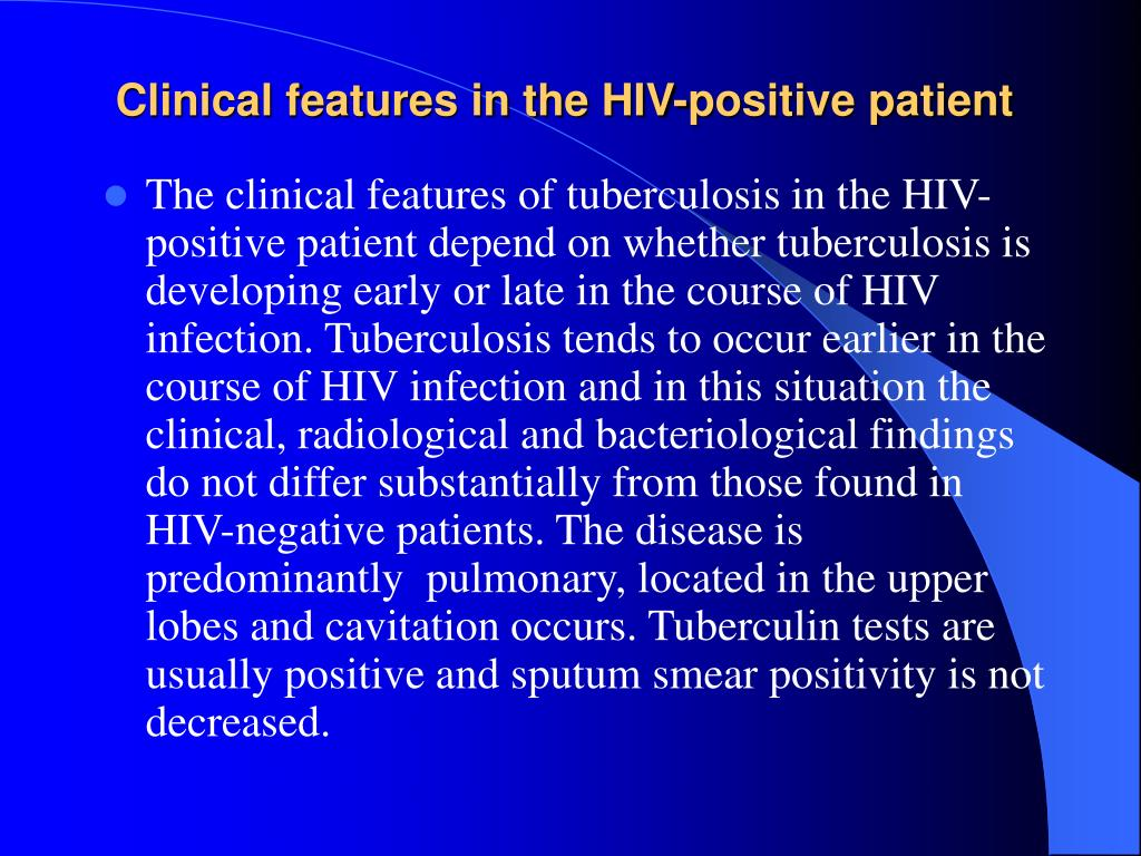 Clinical features in the HIV-positive patient