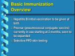basic immunization overview