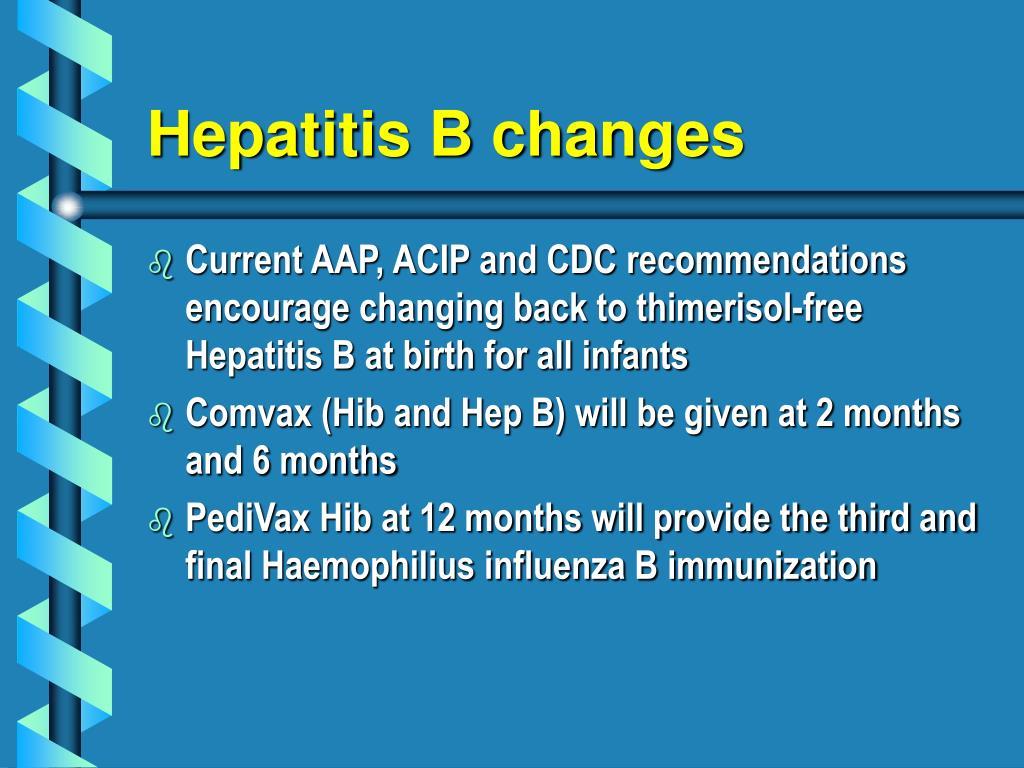 Hepatitis B changes