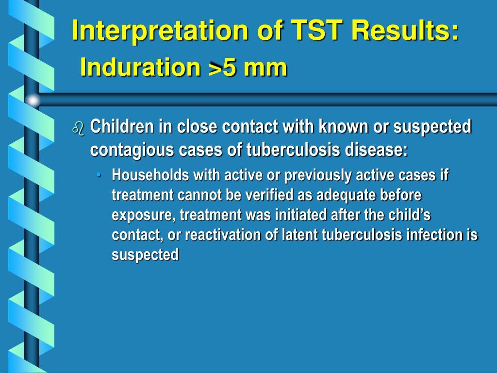 Interpretation of TST Results: