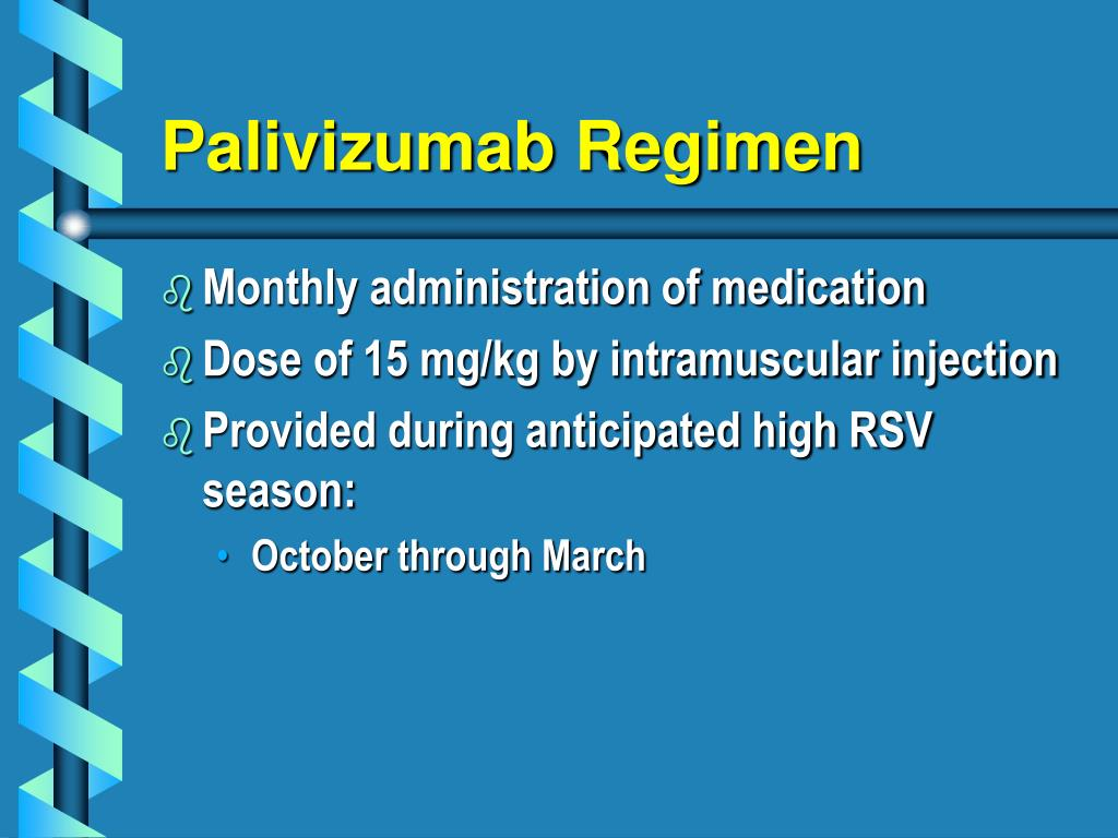 Palivizumab Regimen