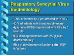 respiratory syncytial virus epidemiology