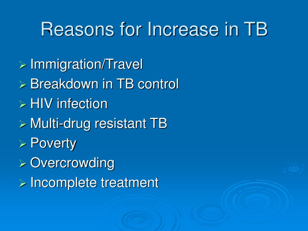 Reasons for Increase in TB