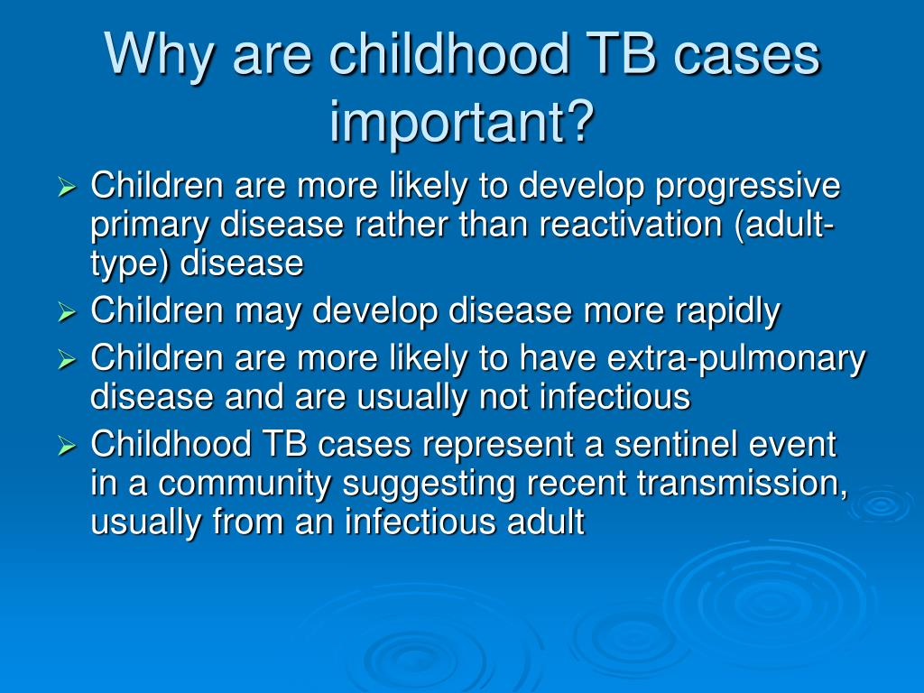 Why are childhood TB cases important?
