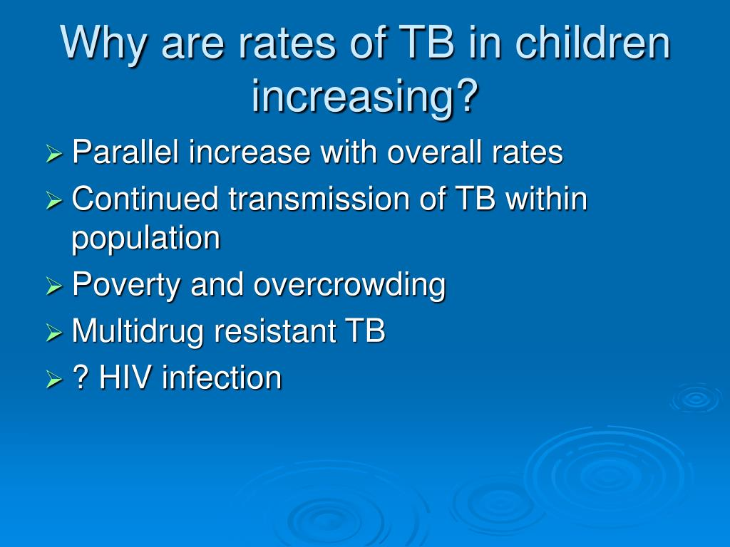 Why are rates of TB in children increasing?